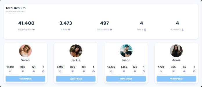 collabstr platform screenshot