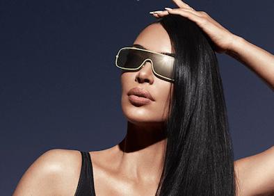 Kim Kardashian models Carolina Lemke eyewear.