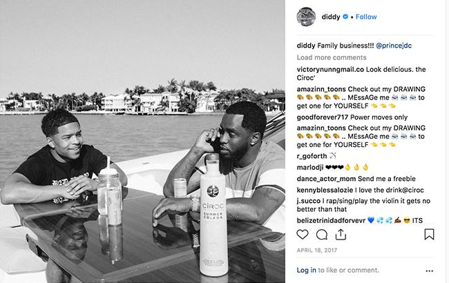 Ciroc influencer marketing with P Diddy