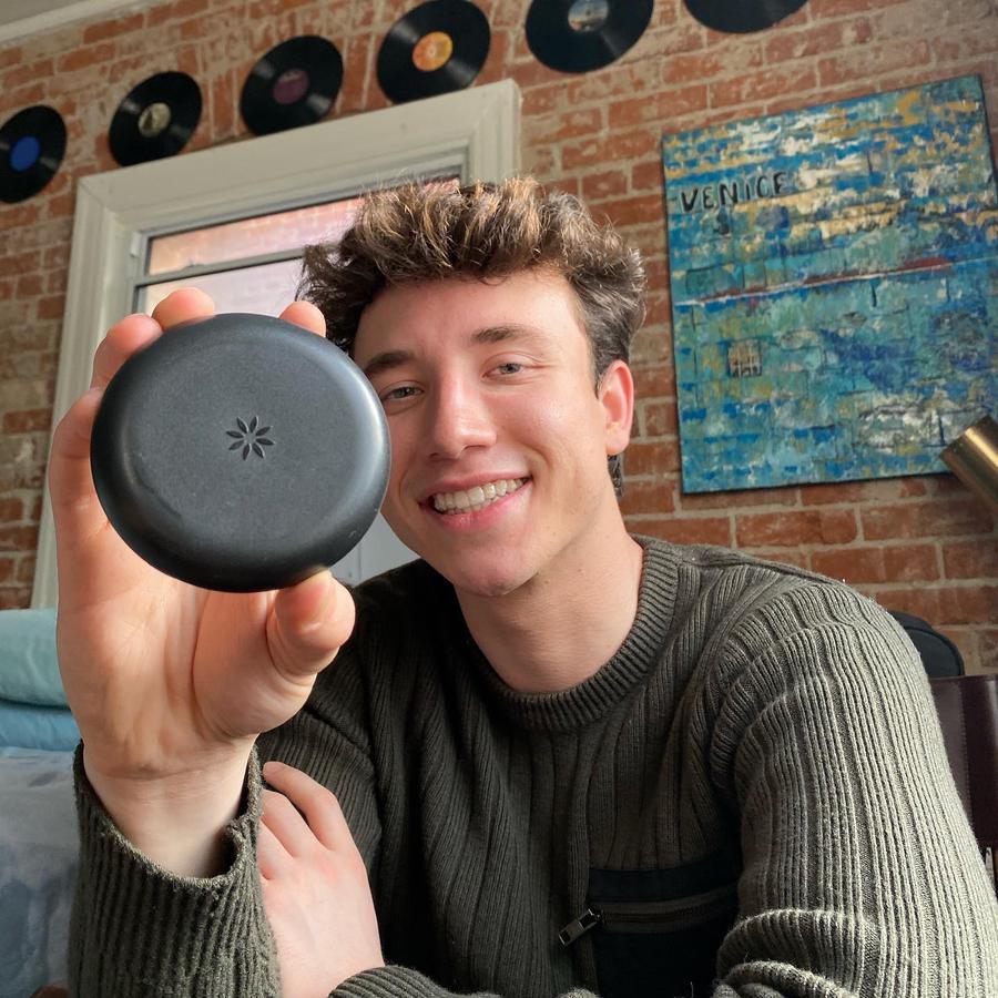 TikTok  creator Josh Sadowski being photographed