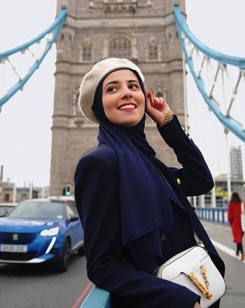 healthcare creator Salma Masrour  being photographed
