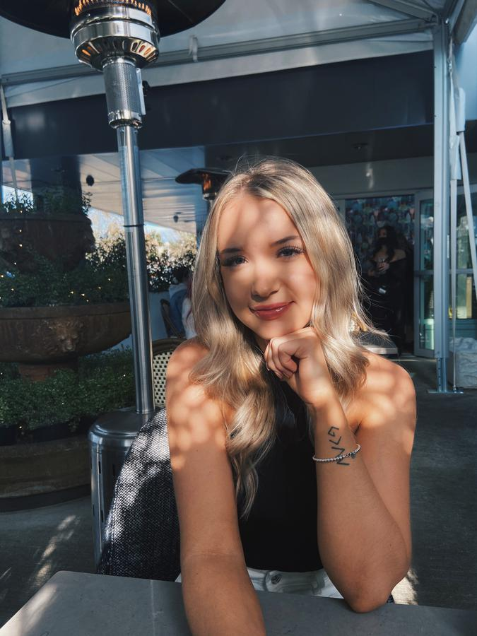 Instagram  creator Kayla Matte being photographed
