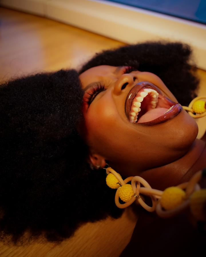 Instagram  creator Chioma Akamelu being photographed