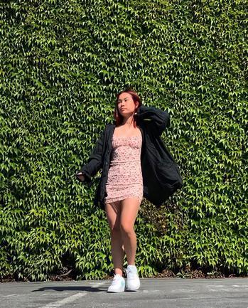 Music & Dance creator Tiffany Mak being photographed
