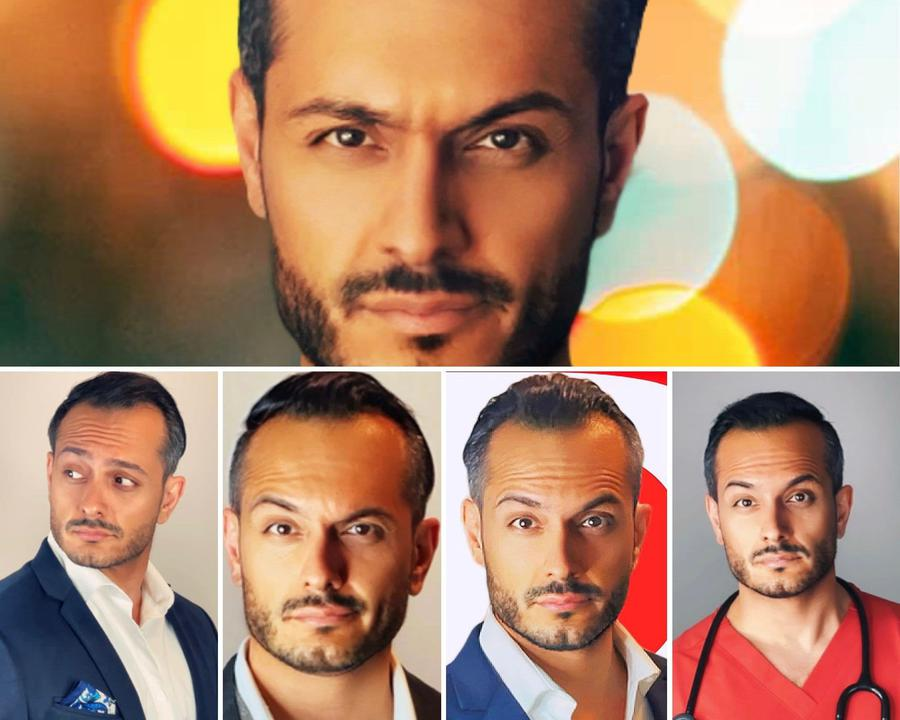 music & dance creator Iman Taheri being photographed