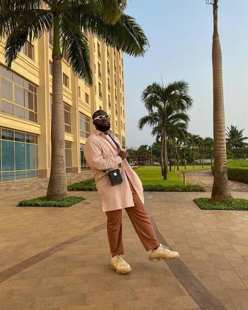 tiktok  creator Chris-Yeboah Opoku being photographed