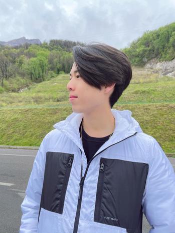 Instagram  creator Panda Boi being photographed