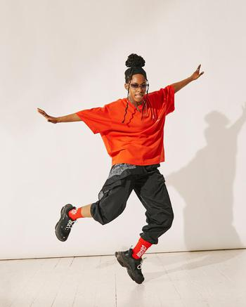 Music & Dance creator Amira being photographed