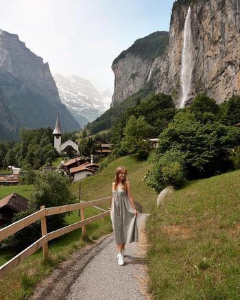 travel creator Priscilla Schürch being photographed