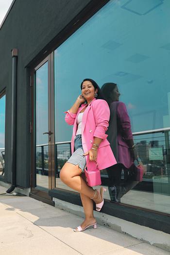 TikTok  creator Krity Shrestha being photographed