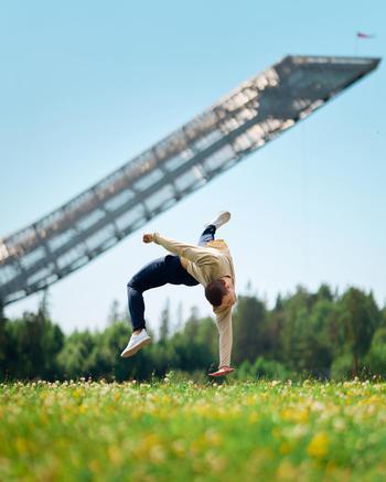 music & dance creator Daniel Grindeland being photographed
