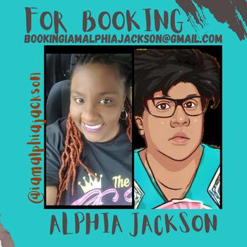 creator Alphia Jackson  being photographed