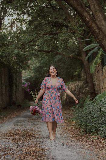 TikTok  creator Linda Ramos being photographed