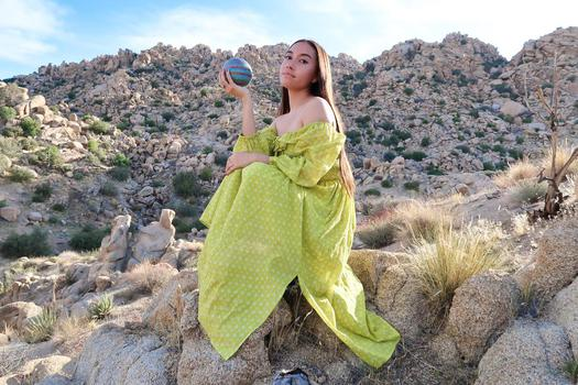 YouTube  creator Katya Echazarreta being photographed