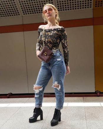 fashion creator Paulanegrea being photographed