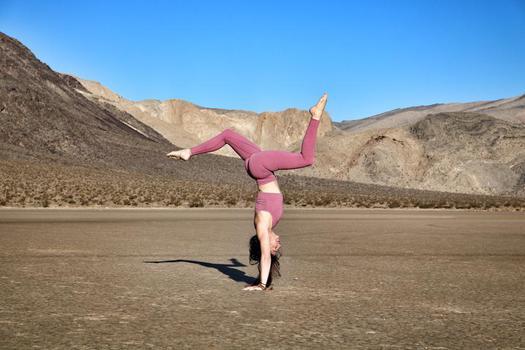 Health & Fitness creator Nina Jarnum being photographed